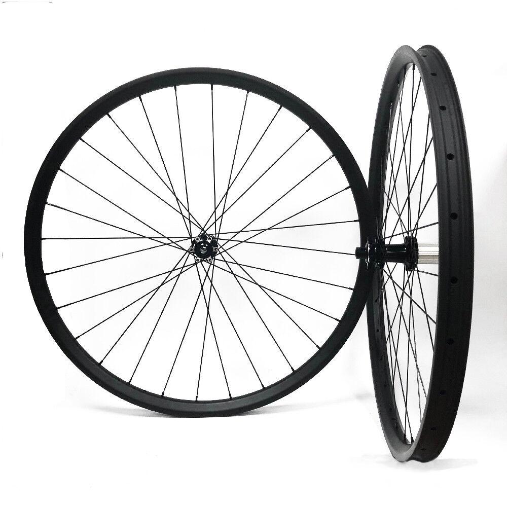 Carbon MTB Wheelset 29er 40mm Width Mountain Bike Wheels with Powerway M42 Hub