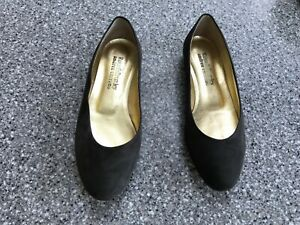 Russell-amp-Bromley-Andrea-Carrano-Charcoal-Grey-Suede-Flat-Shoes-UK4-5-37-5-VGC