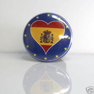 2-Badges-Europe-25mm-PIN-BACK-BUTTON-EPINGLE-Espagne