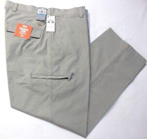 Men-039-s-Dockers-Crossover-D3-Classic-Fit-Flat-Front-Cargo-Pants-Vintage-Khaki