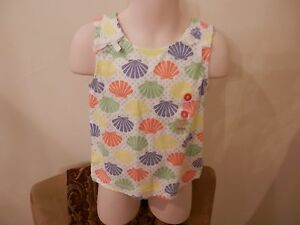NWT-Gymboree-Bright-Colored-Sea-Shell-Girls-Top-Size-5