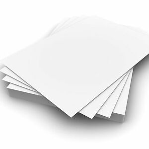 A7 300gsm Plain White Strong Card Pack of 10 for Crafting, Card Making etc.