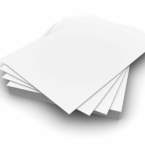 10cm x 10cm 300gsm Plain White Card Pack of 100 for Crafting Card Making etc.