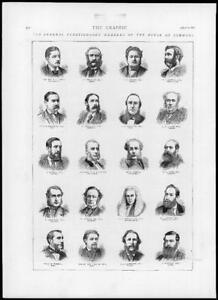 1874-Antique-Print-LONDON-House-Commons-General-Election-Portraits-209