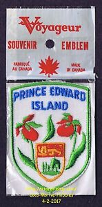 LMH PATCH Badge PRINCE EDWARD ISLAND Canada LADY's SLIPPER Flower PEI Coat Arms