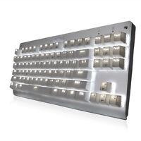 Cooling White Backlight MX Blue Switches 87 Keys USB Gaming Mechanical Keyboards