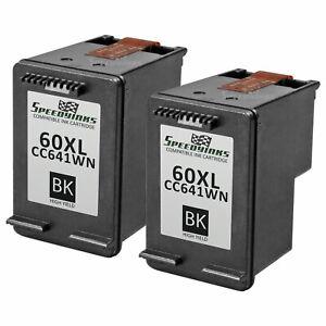 2-Pk-Reman-replacement-for-HP-60XL-CC641WN-High-Yield-Black-Ink-Cartridge