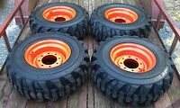 4 12x16.5 Skid Steer Tires & Wheels/rims For Bobcat - 12-16.5 - 12 Ply