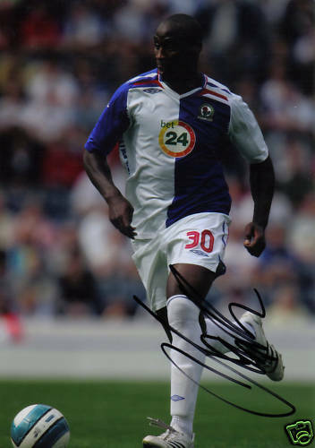 BLACKBURN JASON ROBERTS SIGNED 12x8 ACTION PHOTO+COA