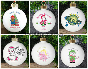PERSONALISED-CHRISTMAS-Tree-BAUBLE-Decoration-KEEPSAKE-For-Child-Him-Her-China