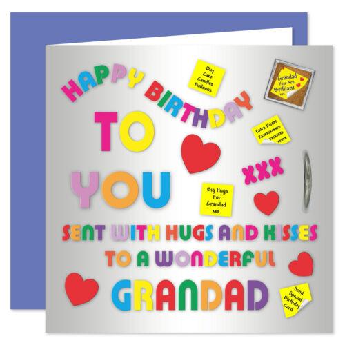 Alphabet Design Age Range 50-85 Years Grandad Happy Birthday Card