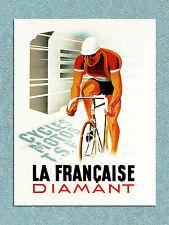 vintage retro style La Francaise cycles poster image metal sign wall door plaque