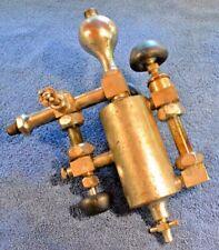 Antique Michigan 1 Pint Steam Engine Lubricator Nickel Plated Brass Look
