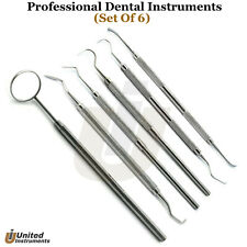 Dentist Tooth Cleaning Kit Perio Knives Tartar Remover Explorer Probes Mirror 5