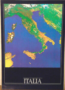PRL-1988-ITALIA-PAESE-ITALY-ITALIE-COUNTRY-VINTAGE-AFFICHE-PRINT-POSTER