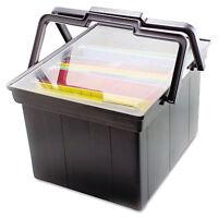 Advantus Companion Portable File Storage Box Legal/letter Plastic Black Tlf2b on sale