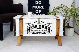Vintage-Couchtisch-Holz-Beistelltisch-Holztruhe-Kiste-Shabby-chic-truhe-weiss-NYC