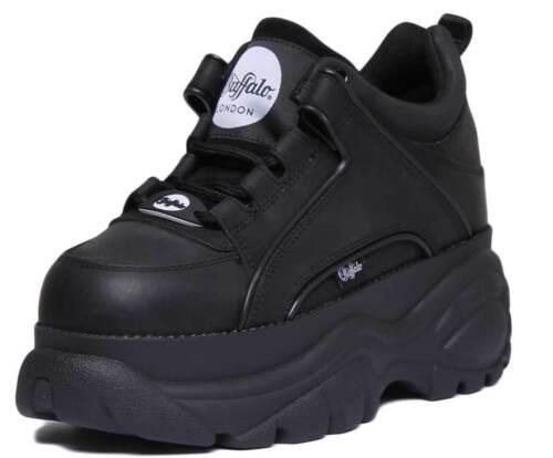 Noires 3 Taille Chaussures Low Classics Buffalo Femme Pour En Plateformes 8 Cuir 1533094 Uk fZw0x17q