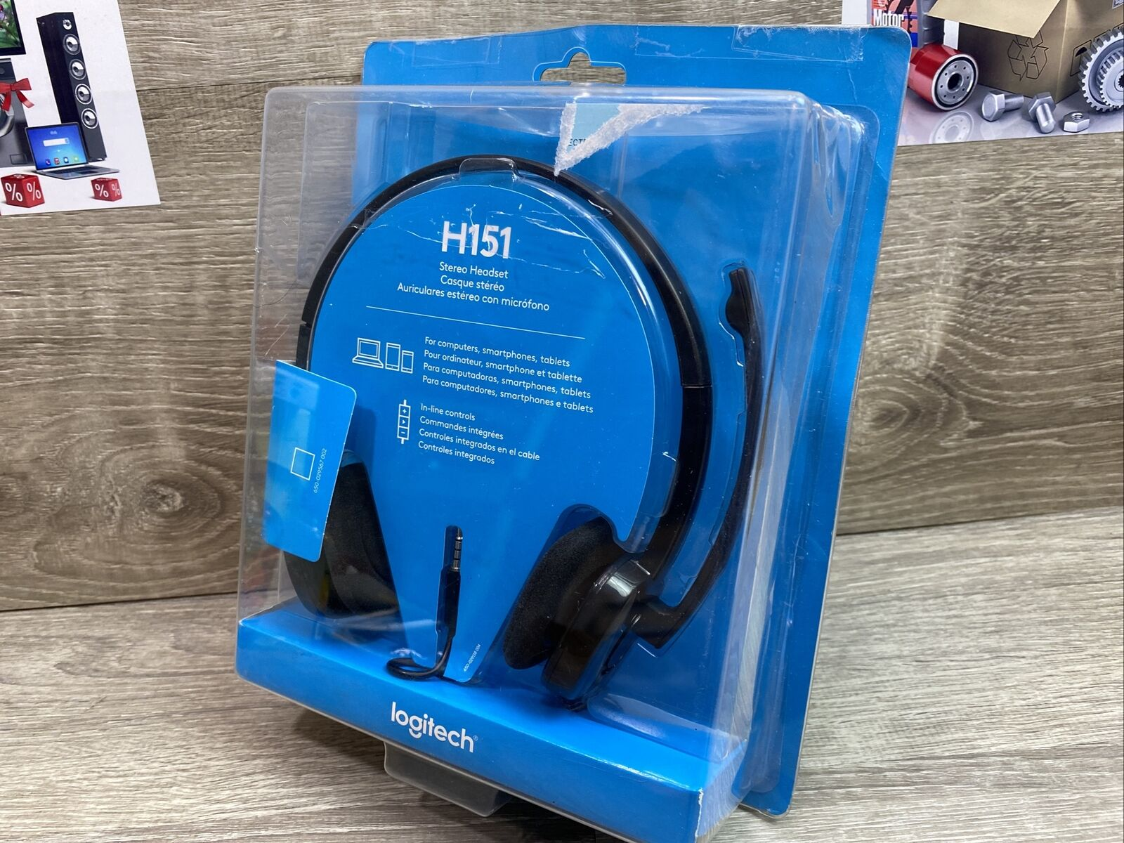 Logitech 3.5 mm Analog Stereo Headset H151 with Boom Microphone Black