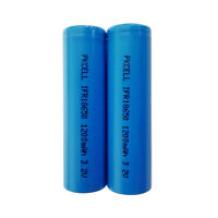 2PCS IFR 18650 3.2V 1200mAh LiFePO4 Rechargeable Battery Fast Shipping