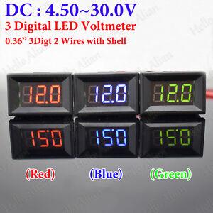 Car Battery Voltage >> Details About Dc 6v 12v 24v Digital Led Display Panel Voltage Volt Meter Voltmeter Car Battery