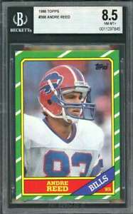 1986-topps-388-ANDRE-REED-buffalo-bills-rookie-card-BGS-8-5