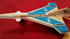 VINTAGE TIN TOY JET AIRPLANE AIRCRAFT RARE RUSSIAN USSR AUTHENTIC COMMUNIST ERA