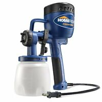 Electric Hvlp Paint Spray Gun 27oz Plastic Container Hand Held Fine Finish Tool
