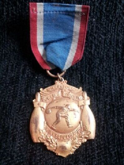 RARE 1915  International Bowling Tournament Medal  Bowling Award