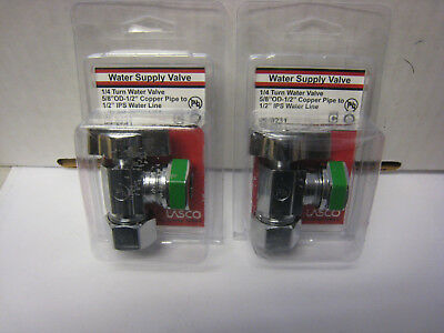 """Clever 2 Lasco 06-9231 5/8"""" Od Compression X 1/2"""" Ip Quarter Turn Angle Valves Plumbing & Fixtures"""