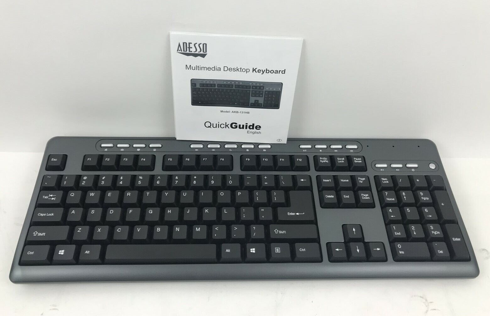 Pasamer Ergonomic USB Interface Multimedia LED White Backlight Keyboard for Old Man Black