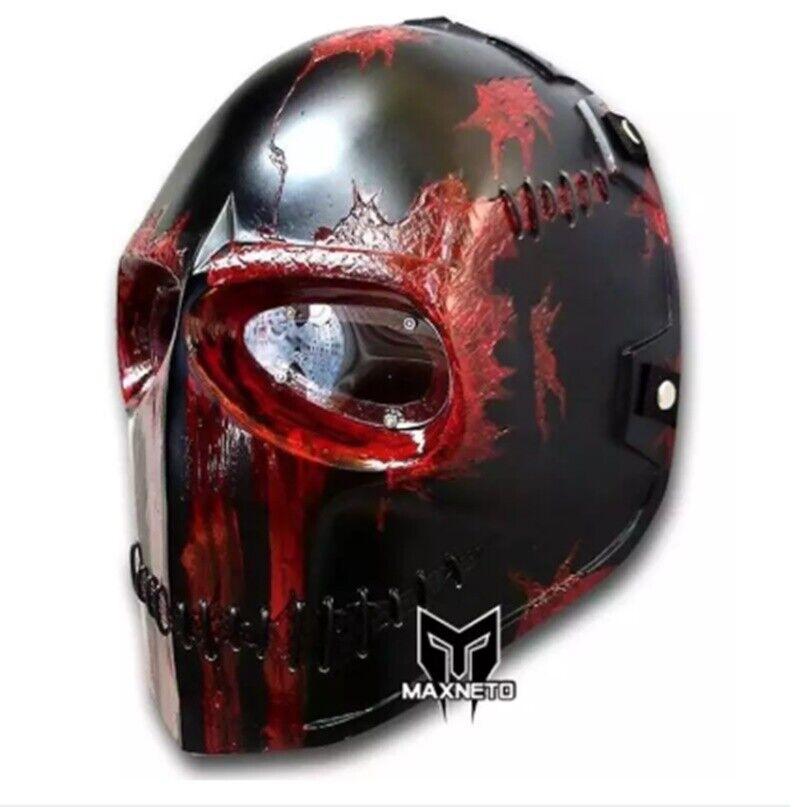 Maschera Da Paintbtutti Airsoft STAFFA INFERIORE PISTOLA FULL FACE prossoezione Cosplay Esercito Outdoor due nuovi