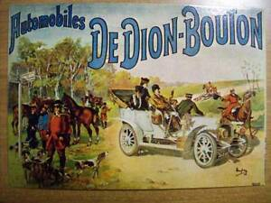 CARTOLINA-NOS-VIEILLES-AFFICHES-AUTOMOBILES-DE-DION-BOUTON-VA-3-S10