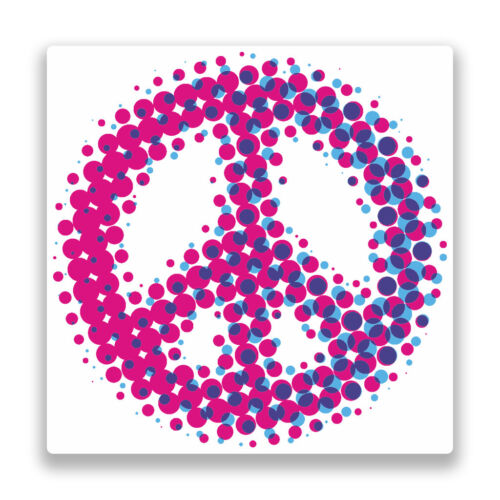 2 x Peace Symbol Vinyl Stickers Hippy #7338