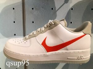 Details about NIKE AIR FORCE 1 07 LV8 3 White Total Orange CD0888-100 Size  7-13 New