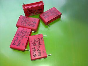 [10 pcs] MKP10 ( 0,1uF) 100nF 630V 10% Genuine WIMA Polypropylene Capacitors