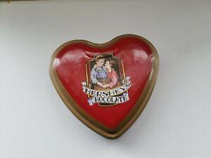 HERSHEY's Chocolate VALENTINE'S DAY en forme de cœur en étain vintage