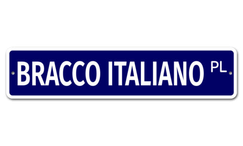"""Details about  /5349 SS Bracco Italiano 4/"""" x 18/"""" Novelty Street Sign Aluminum"""