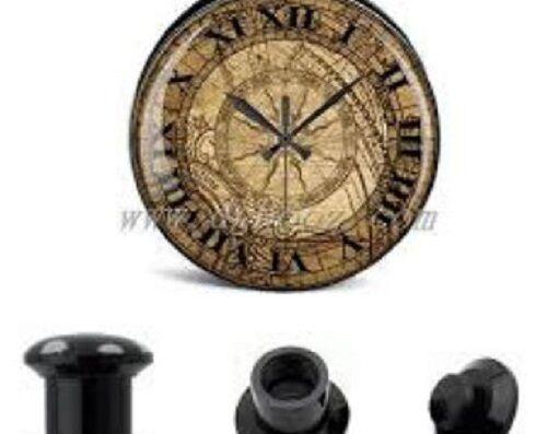 Pair Roman Numerals ACRYLIC SCREW EAR GAUGES PLUGS-STRETCHING KITS  3998