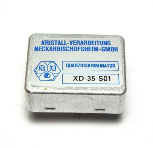 Quarzdiskriminator XD-35 S 01, Kristall-Verarbeitung Neckarbischofsheim GmbH