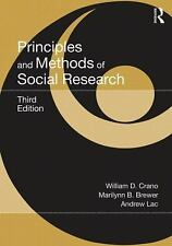 Principles and Methods of Social Research, 3rd Edition, Crano 978-0-415-63856-2