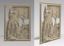 3D STL Model # OWL & MOON # for CNC Aspire Artcam 3D Printer 3D MAX Rhino