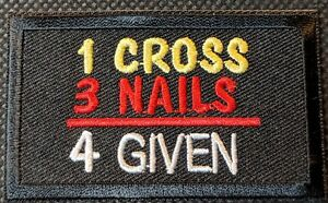 Funny ZERO F*CKS GIVEN Embroidered Patch Biker Motorcycle Vest Iron On  Sew On
