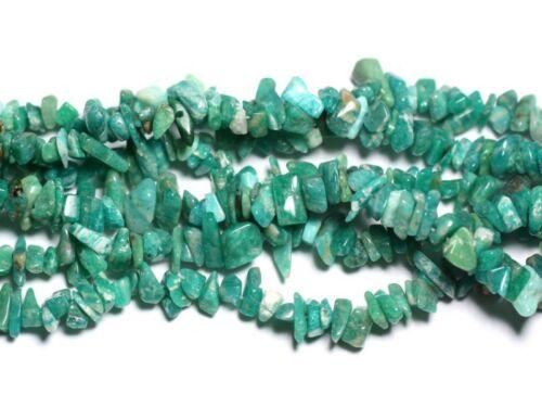 Fil 89cm 260pc env Amazonite Russie Rocailles Chips 5-10mm Perles de Pierre