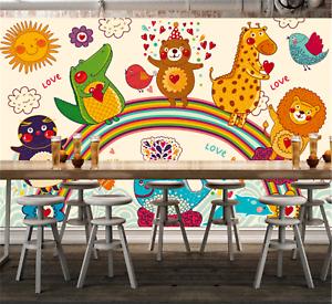 3D Gemalte Tiere 7968 Tapete Tapeten Mauer Foto Familie Tapete Wandgemälde DE