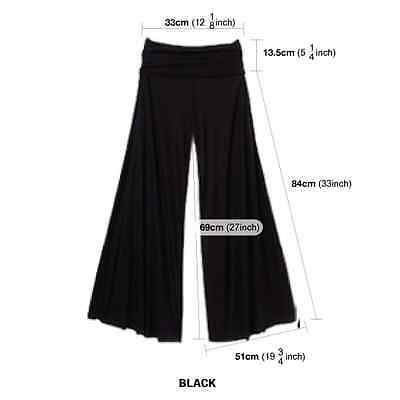 Women Harem Yoga Pants Belly Dance Comfy Loose Flare Wide Club Trousers Pants
