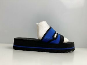 Rocket-Dog-Manto-Women-s-Blue-And-Black-Fabric-Slider-Sandal-UK-Size-4
