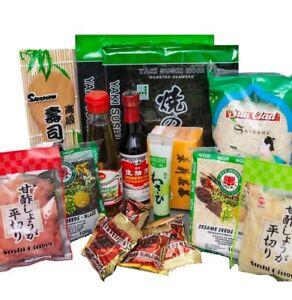 sushi starter set 13 teilig gratis reisl ffel wasabi nori gari ingwer sojaso e ebay. Black Bedroom Furniture Sets. Home Design Ideas