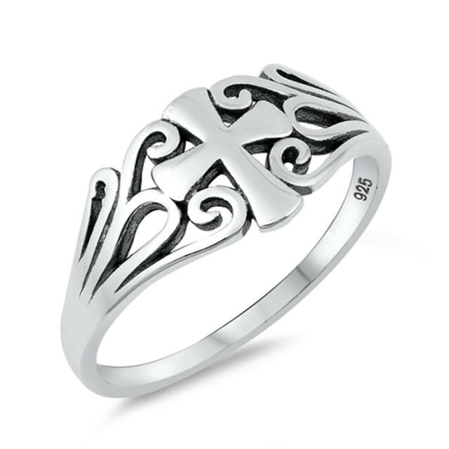 Ringe YESHUA JESUS Ring Sterling Silver Christian Messianic