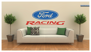 FORD RACING LARGE WALL DECAL VINYL ART 22  TALL 57  Long